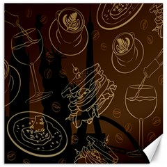 Coffe Break Cake Brown Sweet Original Canvas 20  X 20   by Alisyart