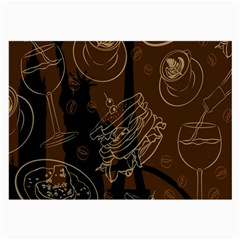 Coffe Break Cake Brown Sweet Original Large Glasses Cloth (2 Side) by Alisyart