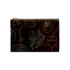 Coffe Break Cake Brown Sweet Original Cosmetic Bag (medium)  by Alisyart