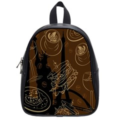 Coffe Break Cake Brown Sweet Original School Bags (small)  by Alisyart