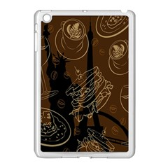 Coffe Break Cake Brown Sweet Original Apple Ipad Mini Case (white) by Alisyart