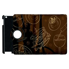 Coffe Break Cake Brown Sweet Original Apple Ipad 2 Flip 360 Case by Alisyart