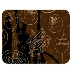 Coffe Break Cake Brown Sweet Original Double Sided Flano Blanket (medium)  by Alisyart