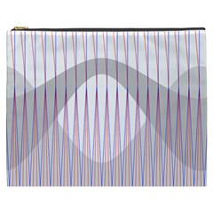 Crease Patterns Large Vases Blue Red Orange White Cosmetic Bag (xxxl)  by Alisyart