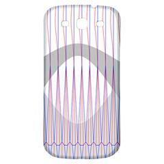 Crease Patterns Large Vases Blue Red Orange White Samsung Galaxy S3 S Iii Classic Hardshell Back Case by Alisyart
