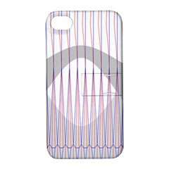 Crease Patterns Large Vases Blue Red Orange White Apple Iphone 4/4s Hardshell Case With Stand by Alisyart