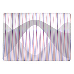 Crease Patterns Large Vases Blue Red Orange White Samsung Galaxy Tab 10 1  P7500 Flip Case by Alisyart