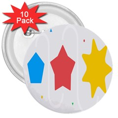 Evolution Jumsoft Star 3  Buttons (10 Pack)  by Alisyart
