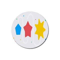Evolution Jumsoft Star Rubber Round Coaster (4 Pack)  by Alisyart
