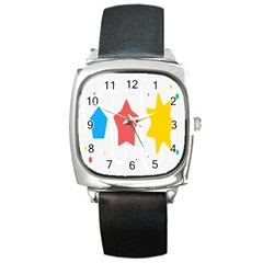 Evolution Jumsoft Star Square Metal Watch by Alisyart