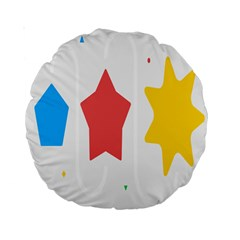 Evolution Jumsoft Star Standard 15  Premium Round Cushions by Alisyart