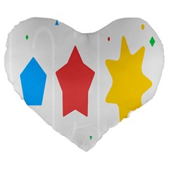 Evolution Jumsoft Star Large 19  Premium Flano Heart Shape Cushions by Alisyart