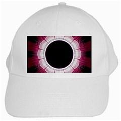 Circle Border Hole Black Red White Space White Cap by Alisyart