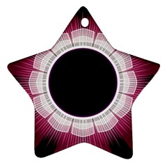 Circle Border Hole Black Red White Space Ornament (star) by Alisyart