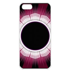 Circle Border Hole Black Red White Space Apple Iphone 5 Seamless Case (white) by Alisyart