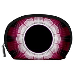 Circle Border Hole Black Red White Space Accessory Pouches (large)  by Alisyart