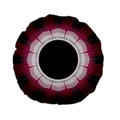 Circle Border Hole Black Red White Space Standard 15  Premium Flano Round Cushions by Alisyart