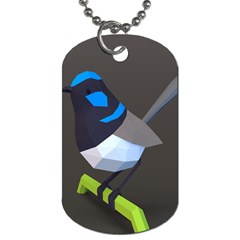 Animals Bird Green Ngray Black White Blue Dog Tag (two Sides) by Alisyart