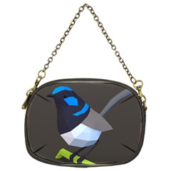 Animals Bird Green Ngray Black White Blue Chain Purses (two Sides)  by Alisyart