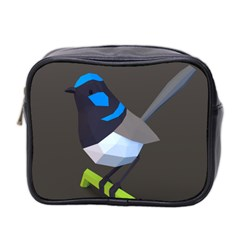 Animals Bird Green Ngray Black White Blue Mini Toiletries Bag 2 Side by Alisyart