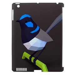 Animals Bird Green Ngray Black White Blue Apple Ipad 3/4 Hardshell Case (compatible With Smart Cover) by Alisyart