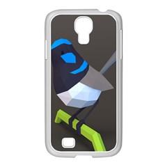 Animals Bird Green Ngray Black White Blue Samsung Galaxy S4 I9500/ I9505 Case (white) by Alisyart