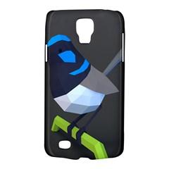 Animals Bird Green Ngray Black White Blue Galaxy S4 Active by Alisyart