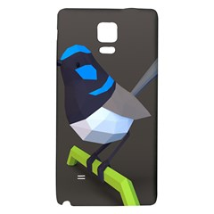 Animals Bird Green Ngray Black White Blue Galaxy Note 4 Back Case by Alisyart