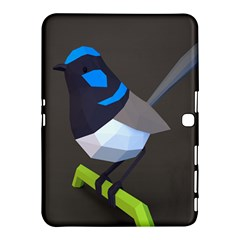 Animals Bird Green Ngray Black White Blue Samsung Galaxy Tab 4 (10 1 ) Hardshell Case  by Alisyart