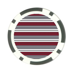 Fabric Line Red Grey White Wave Poker Chip Card Guard by Alisyart