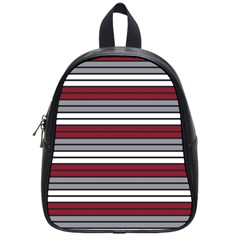 Fabric Line Red Grey White Wave School Bags (small)  by Alisyart