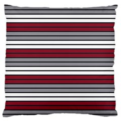 Fabric Line Red Grey White Wave Large Cushion Case (one Side) by Alisyart