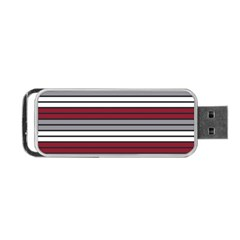 Fabric Line Red Grey White Wave Portable Usb Flash (two Sides) by Alisyart