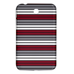 Fabric Line Red Grey White Wave Samsung Galaxy Tab 3 (7 ) P3200 Hardshell Case  by Alisyart