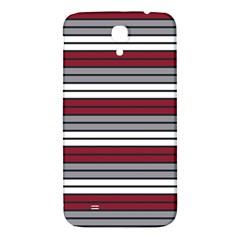 Fabric Line Red Grey White Wave Samsung Galaxy Mega I9200 Hardshell Back Case by Alisyart