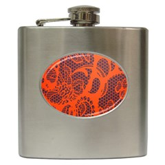 Enlarge Orange Purple Hip Flask (6 Oz) by Alisyart