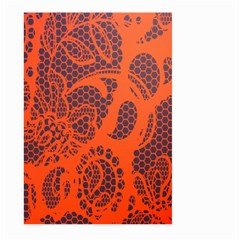 Enlarge Orange Purple Large Garden Flag (two Sides) by Alisyart