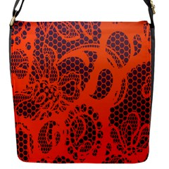 Enlarge Orange Purple Flap Messenger Bag (s) by Alisyart