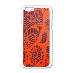 Enlarge Orange Purple Apple Iphone 6/6s White Enamel Case by Alisyart