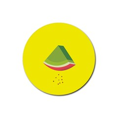 Fruit Melon Sweet Yellow Green White Red Rubber Coaster (round)  by Alisyart