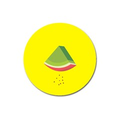 Fruit Melon Sweet Yellow Green White Red Magnet 3  (round) by Alisyart