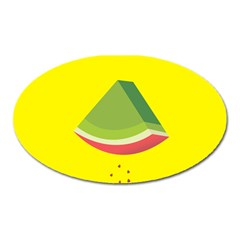 Fruit Melon Sweet Yellow Green White Red Oval Magnet by Alisyart
