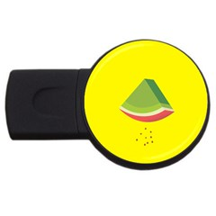 Fruit Melon Sweet Yellow Green White Red Usb Flash Drive Round (4 Gb) by Alisyart
