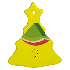 Fruit Melon Sweet Yellow Green White Red Christmas Tree Ornament (two Sides) by Alisyart