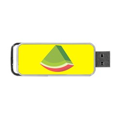 Fruit Melon Sweet Yellow Green White Red Portable Usb Flash (two Sides) by Alisyart