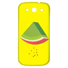 Fruit Melon Sweet Yellow Green White Red Samsung Galaxy S3 S Iii Classic Hardshell Back Case by Alisyart