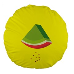 Fruit Melon Sweet Yellow Green White Red Large 18  Premium Round Cushions by Alisyart