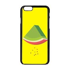 Fruit Melon Sweet Yellow Green White Red Apple Iphone 6/6s Black Enamel Case by Alisyart