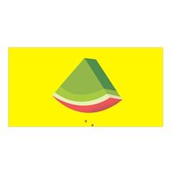 Fruit Melon Sweet Yellow Green White Red Satin Shawl by Alisyart
