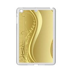 Golden Wave Floral Leaf Circle iPad Mini 2 Enamel Coated Cases